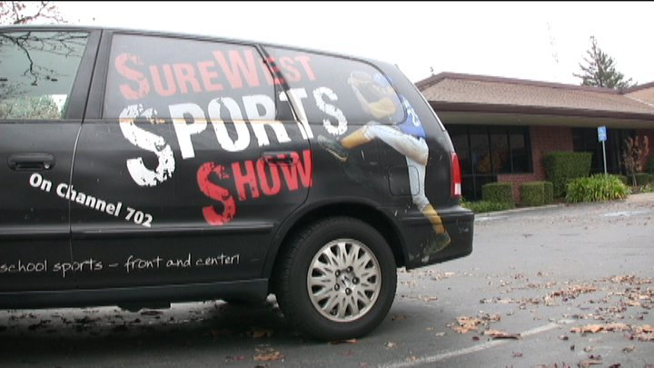 SureWest van at radio station 2